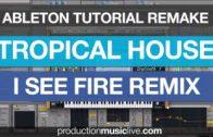Tutorial KYGO Ed Sheeran I See Fire Remake Ableton Live 9 Sound design Cover Thomas Jack