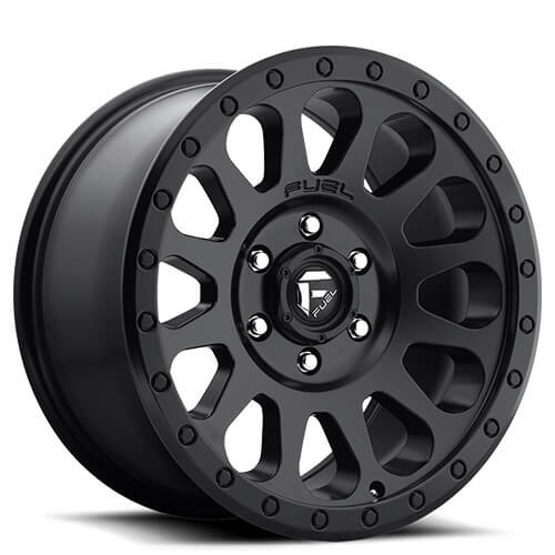 22 Fuel Wheels D513 Throttle Matte Black Milled Rims