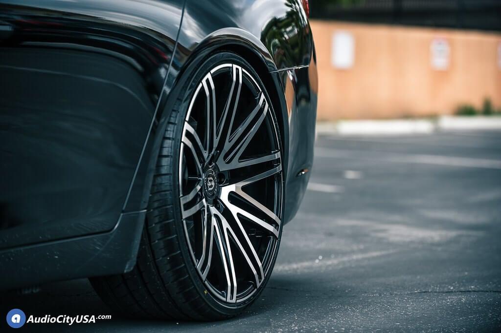 22 Quot Staggered Curva Wheels C48 Black Machined Rims