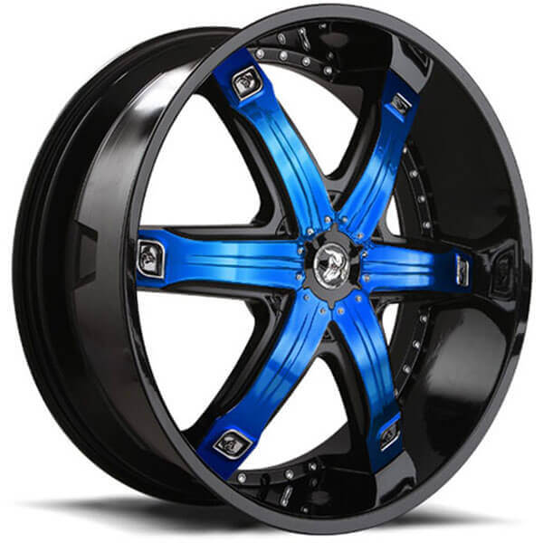 """There are so many choices even if you don't have much money to spend. 26"""" Diablo Wheels Fury Black with Custom Finish Inserts"""
