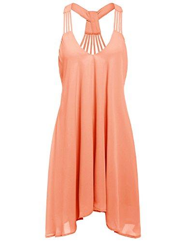 ROMWE Womens Summer Spaghetti Strap Sundress Sleeveless Beach Slip Dress Black M  AudioDevicer