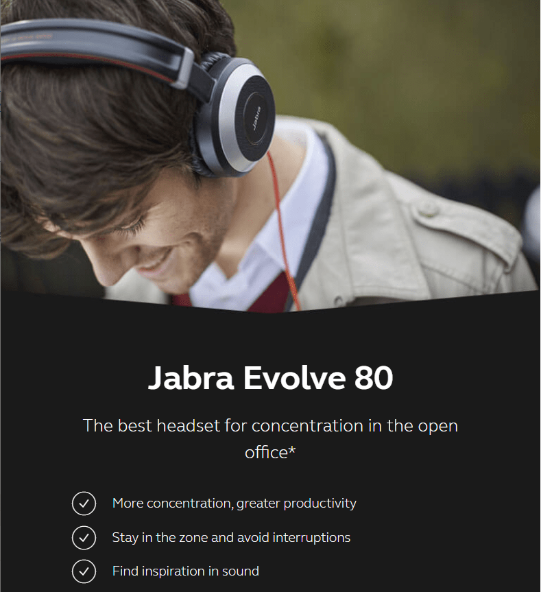 Jabra Evolve 80 headset MS Stereo 4