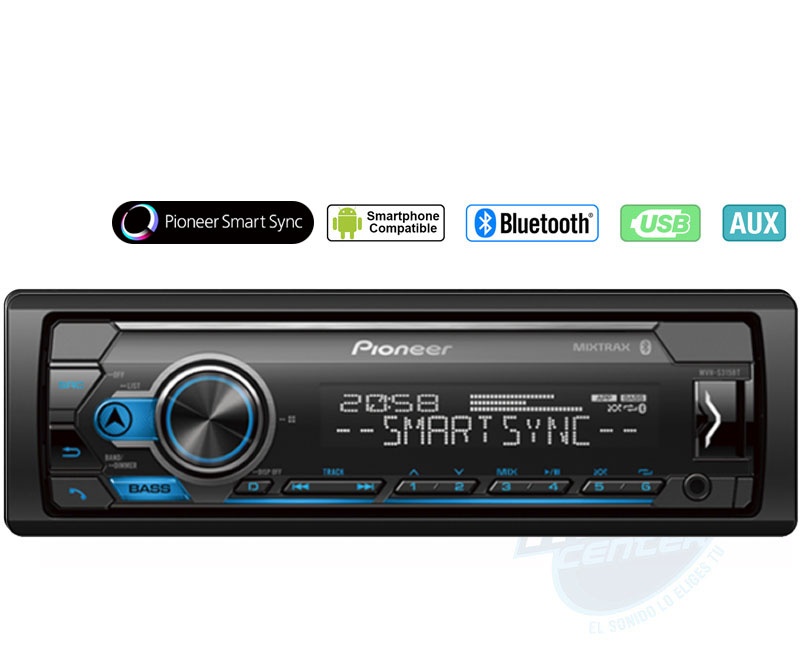 PIONEER BLUETOOTH USB MEDIA RADIO MVHS325BT 6