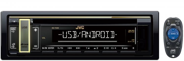 JVC CD USB AUX RADIO KDT408 2