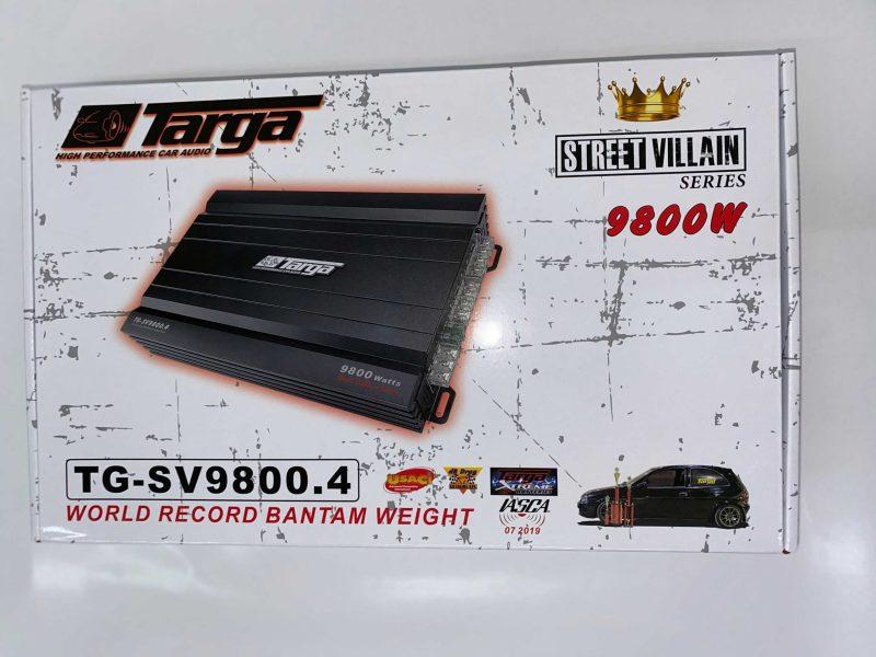 TARGA AMPLIFIER 4CH STREET VILLAIN 9800W TGSV9800.4 2