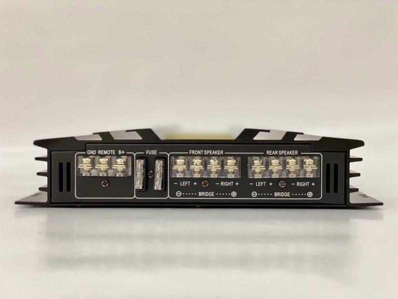 RAIDER SERIES 4X80RMS 7500W RCA INPUT/OUTPUT HPF/LPF FILTERS BASS BOOST