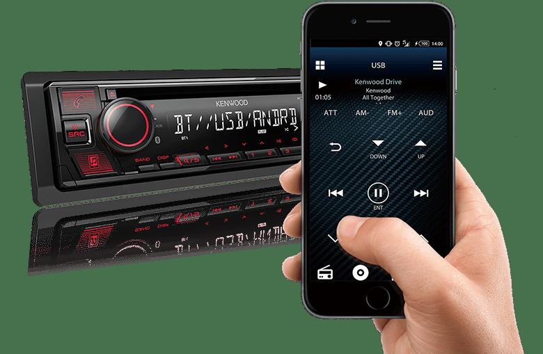 KENWOOD BLUETOOTH USB MEDIA RADIO KDCBT530U 1