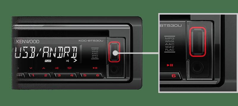 KENWOOD BLUETOOTH USB MEDIA RADIO KDCBT530U 2