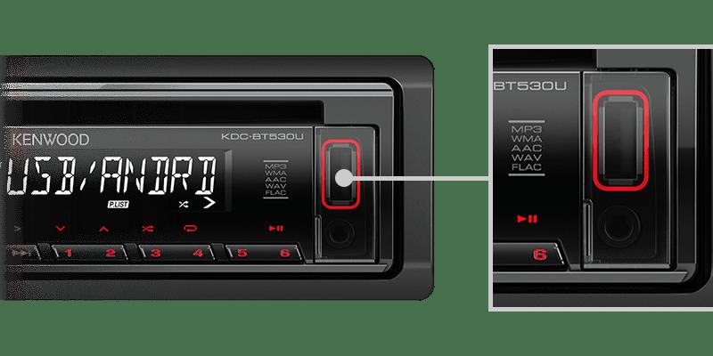 KENWOOD BLUETOOTH USB MEDIA RADIO KDCBT530U 5