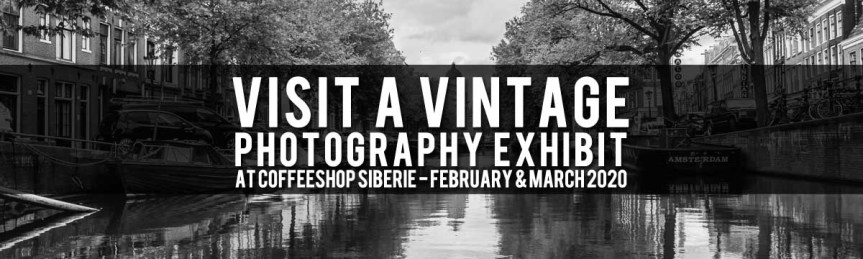 Vintage Photography, Amsterdam Canals, Coffeeshop Siberië