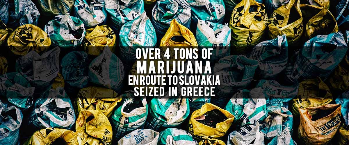 More than 4 tons of cannabis hasbeen confiscated in Greece, en routeto Slovakia.
