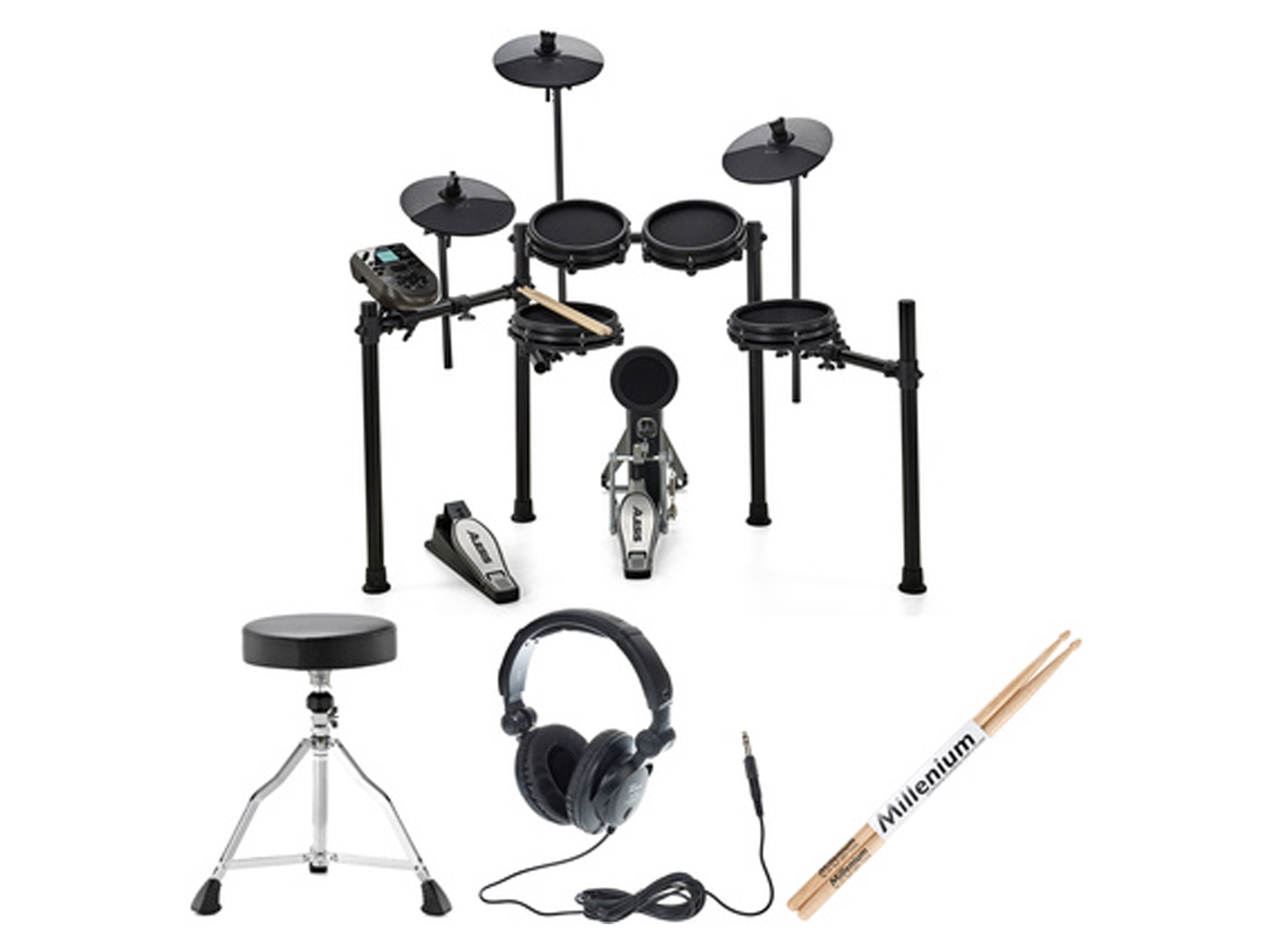 Alesis Nitro Kit Mesh Kit Bundle Audio Malta