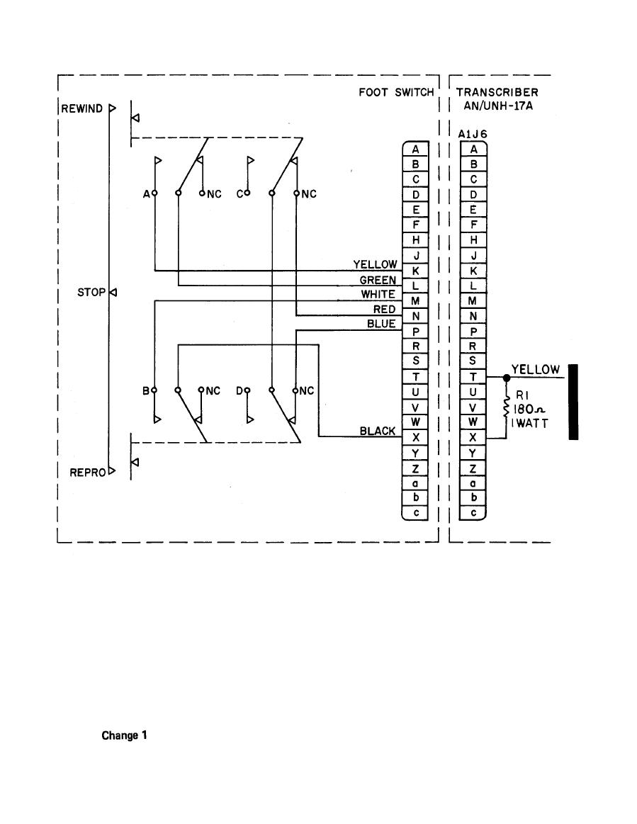 Figure 6-11. FOOT SWITCH WIRING DIAGRAM