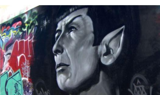 Leonard Nimoy Tribute Mural. AJA Louden 2015