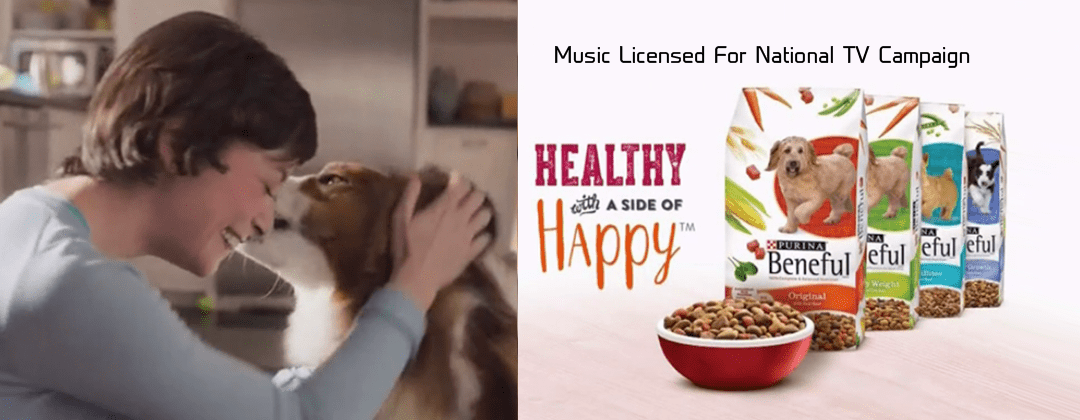 """Purina Beneful national television commercial licensed """"ALIBI-Hunny Bunny through Alibi Music Library"""