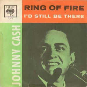 Notes on this image: This is the front cover for Ring of Fire (song) by the artist Johnny Cash. The cover art copyright is believed to belong to the label, Columbia Records, or the graphic artist(s).Used under fair use copyright law in the United States of America, solely for the purpose to illustrate the recording.This image is only used for the article Which Cover of Ring of Fire Burns the Brightest?