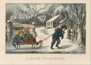 Which Version of Sleigh Ride will nearly be like a picture print by Currier and Ives?
