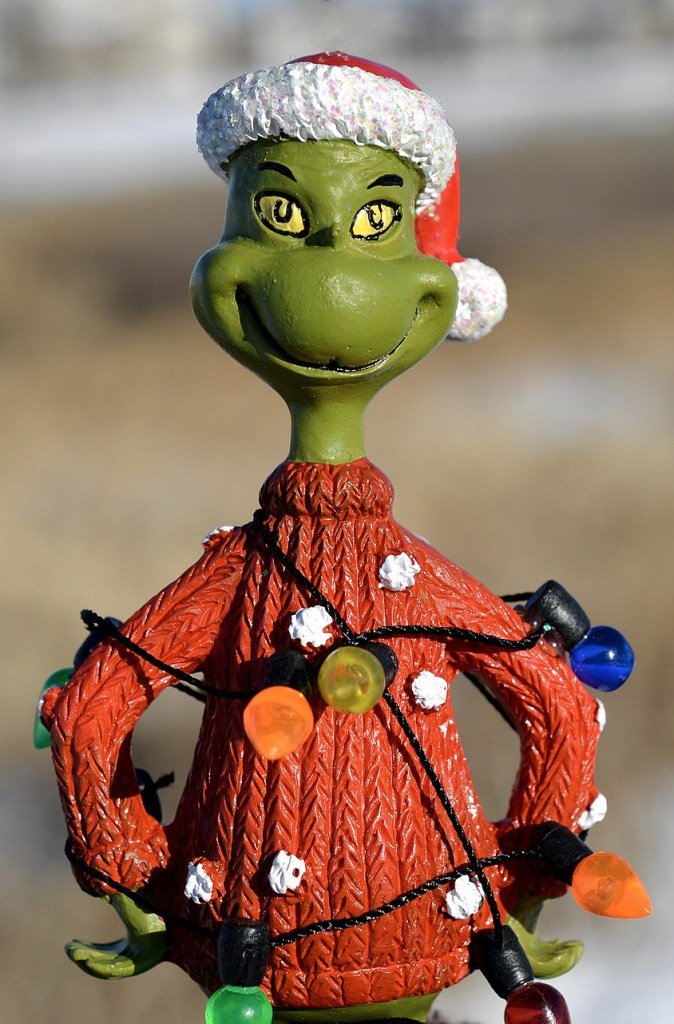 Version of Mr. Grinch with lights.