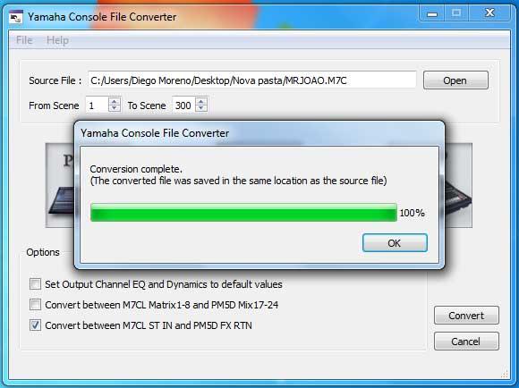 Yamaha Console file converter 3