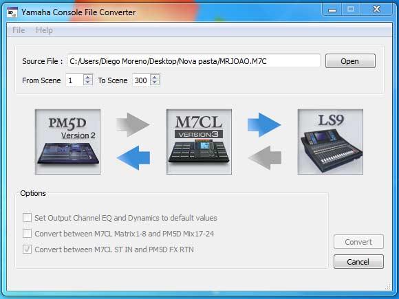 Yamaha Console file converter 2