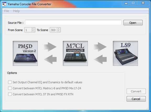 Yamaha Console file converter 1