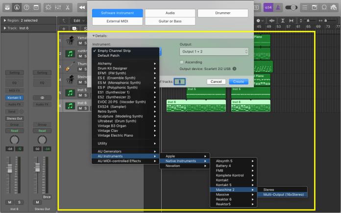Maschine - Create Multioutput instrument track