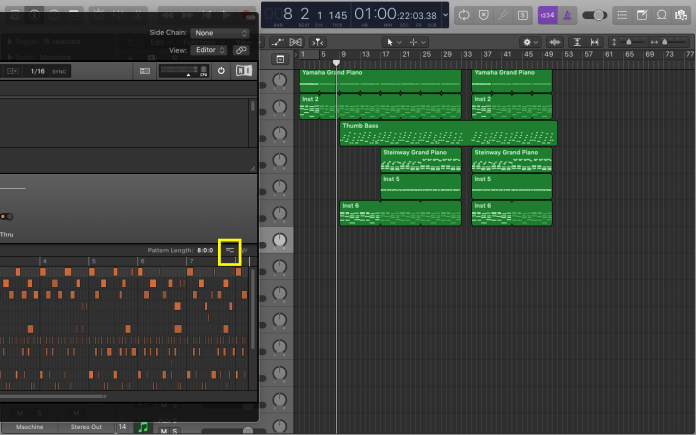 Select the midi option as shown in the image, hold it and drag to the track window