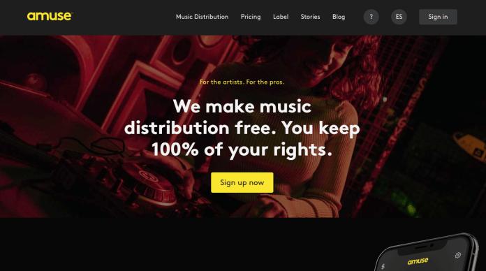 Free music distribution platform Amuse
