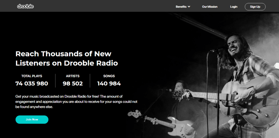 Reach thousands of new listeners on Drooble!