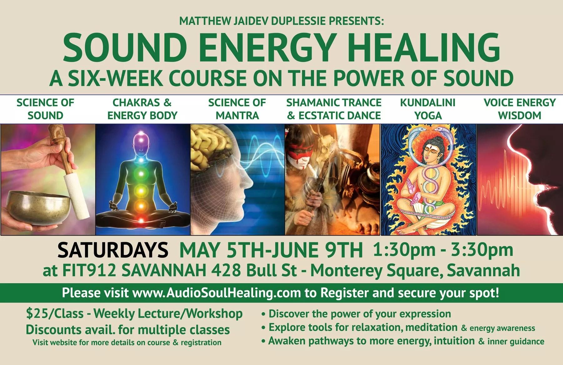 2018 - 6 Week Sound Energy Healing Course | AudioSoul Healing