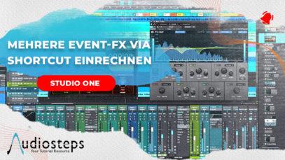 Studio One Event FX einrechnen