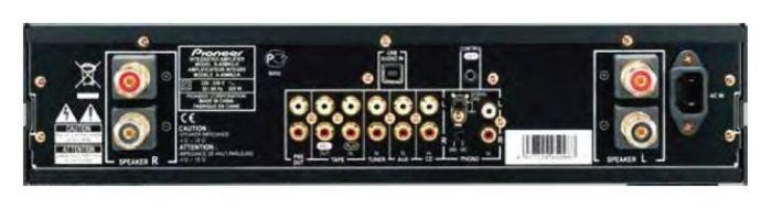 Panel trasero amplificador Pioneer G-Clef
