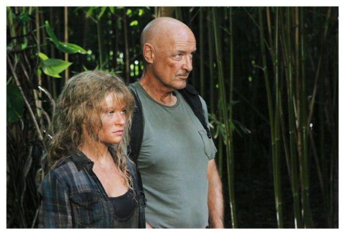 Emile de Ravin (Claire Littleton) y Terry O'Quinn (John Locke)