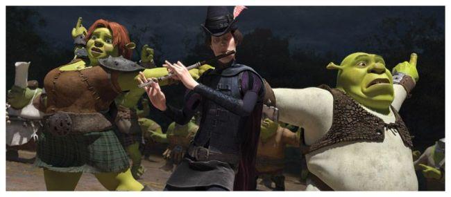 Fiona, Flautista de Hamelín y Shrek