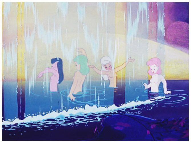 El baño de las Centauras en Fantasía de Disney