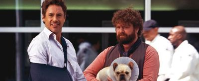 "Robert Downey Jr y Zach Galifianakis en ""Salidos de Cuentas"""