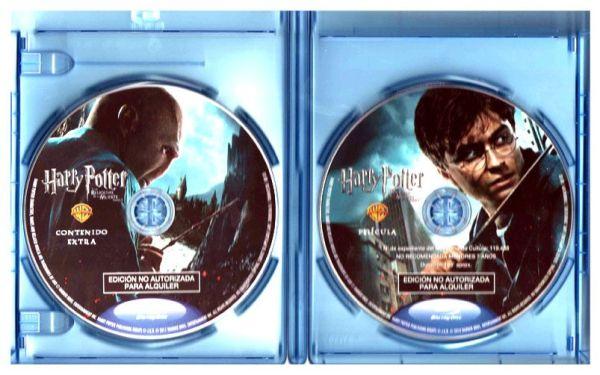 Estuche con los dos discos Blu Ray de Harry Potter y Las Reliquias de la Muerte