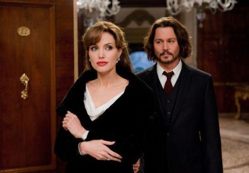 "Angelina Jolie y Johnny Deep en ""The Tourist"""