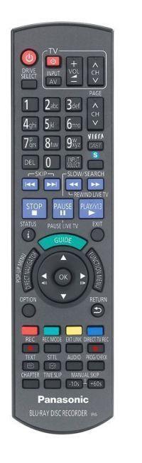 Mando del Panasonic DMR-BWT700