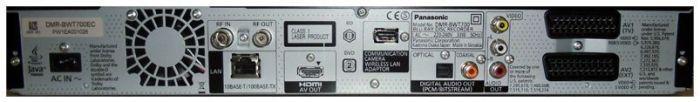 Panel trasero del Panasonic DMR-BWT700