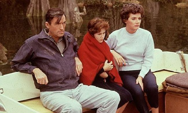 """Gregory Peck, Polly Bergen y Lori Martin en """"El Cabo del Terror"""" (1962)"""