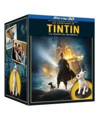 """""""La aventuras de Tintín: El secreto del unicornio"""" Blu-Ray (2011) edición 3D con figura de Milú"""