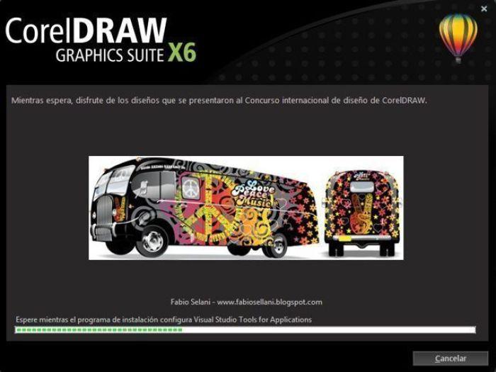"""Pantalla de instalación de la nueva suite """"CorelDRAW® Graphics Suite X6"""""""