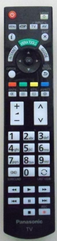 Mando a distancia convencional del Televisor PANASONIC SMART-VIERA TX-L47WT50E