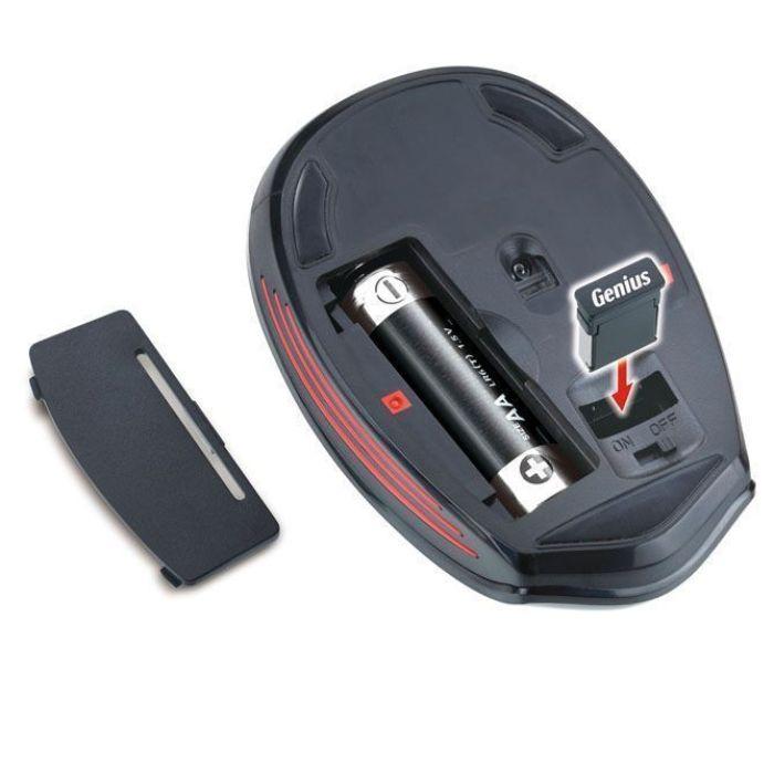 Habtitáculo para la pila y para guardar el microrreceptor USB del ratón GENIUS NX-6500