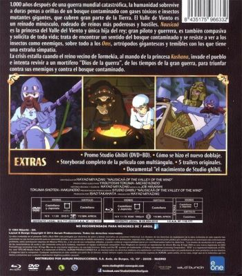 """NAUSICAÄ DEL VALLE DEL VIENTO. Análisis Blu-Ray de la Edición """"Studio Ghibli Collection DeLuxe"""""""