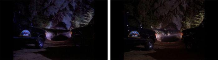 Ejemplo de restauración de imagen en Twin Peaks. Antes (izquierda) después (a la derecha)