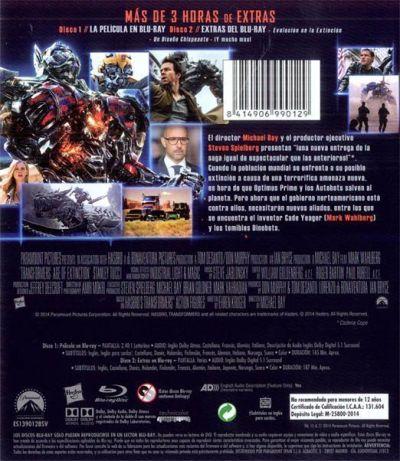 TRANSFORMERS: LA ERA DE LA EXTINCIÓN (Blu-Ray analizado en AudioVideoHD.com - 2014)