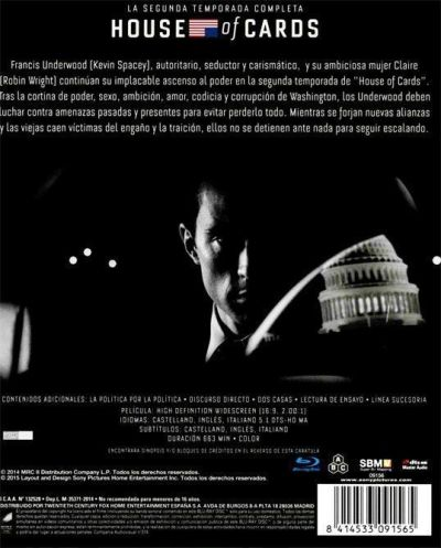 HOUSE OF CARDS (análisis de la segunda temporada en Blu-Ray) AudioVideoHD.com