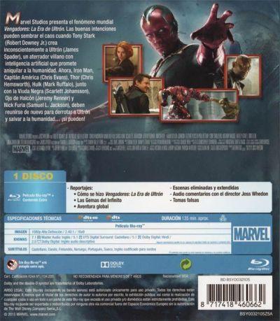 MARVEL VENGADORES: LA ERA DE ULTRÓN (2015) Analizado Blu-Ray en AudioVideoHD.com